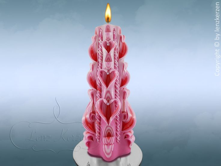Handmade carved  Candle Wedding from Lenz candles by DaWanda.com
