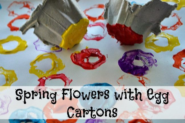 spring art with egg carton flowers printing.  Creativity and Imagination: B.EL.2 Page 72.
