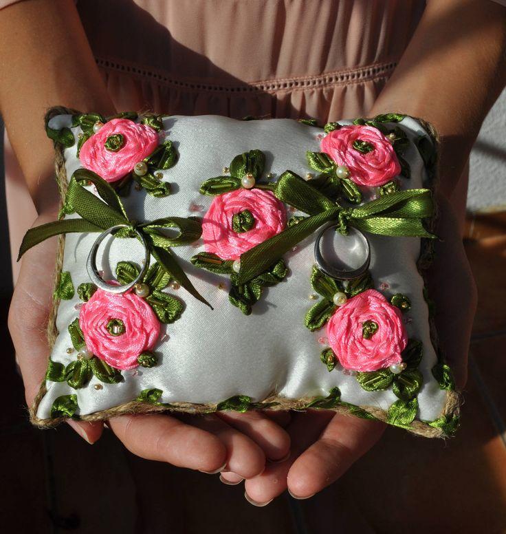 NEW!!! almohada de boda, almohada anillo boda, almohadas anillos, regalo de boda, regalo para novia, regalo Navideño, almohadas bodas, bodas de AccesoriosDeOlga en Etsy