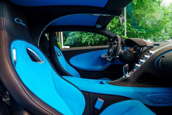Take a look inside of the #Bugatti #Chiron - The interior reflects the stylistic themes of the exterior with a focus on the pilot and an ultimate driving experience. *Near-production vehicle without type approval – Directive 1999/94/EEC does not apply