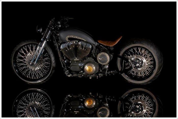 "Bobber Inspiration | Harley ""48"" Sportster - ""Rajmata"" by Rajputana... | Bobbers"