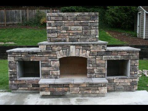 DIY - Building an outdoor fireplace - YouTube