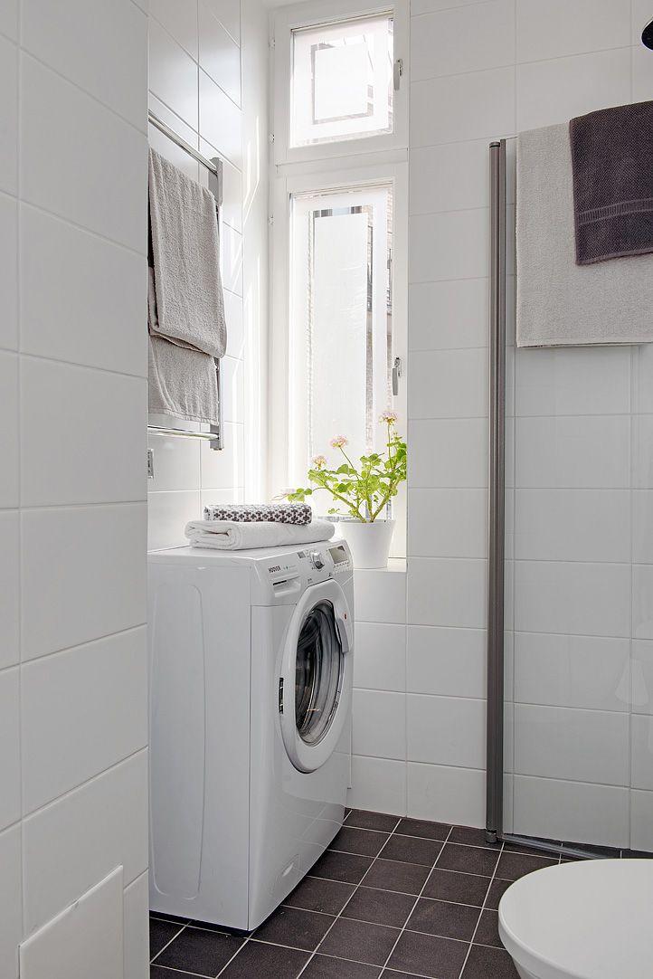 Tvättmaskin, golvvärme & dimbara spotlights