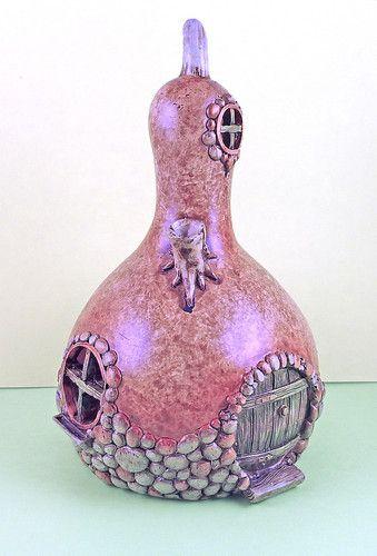 Cute - use mini gourd for fairy house?