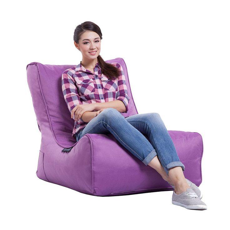 Ambient Lounge® Evolution Outdoor Sofa Bean Bag Chair - Acai Purple - Bean Bag Hub
