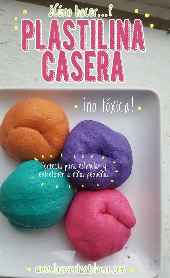 PLASTILINA CASERA ¡NO TÓXICA! Receta Saludable Facil y rapida para toda la familia