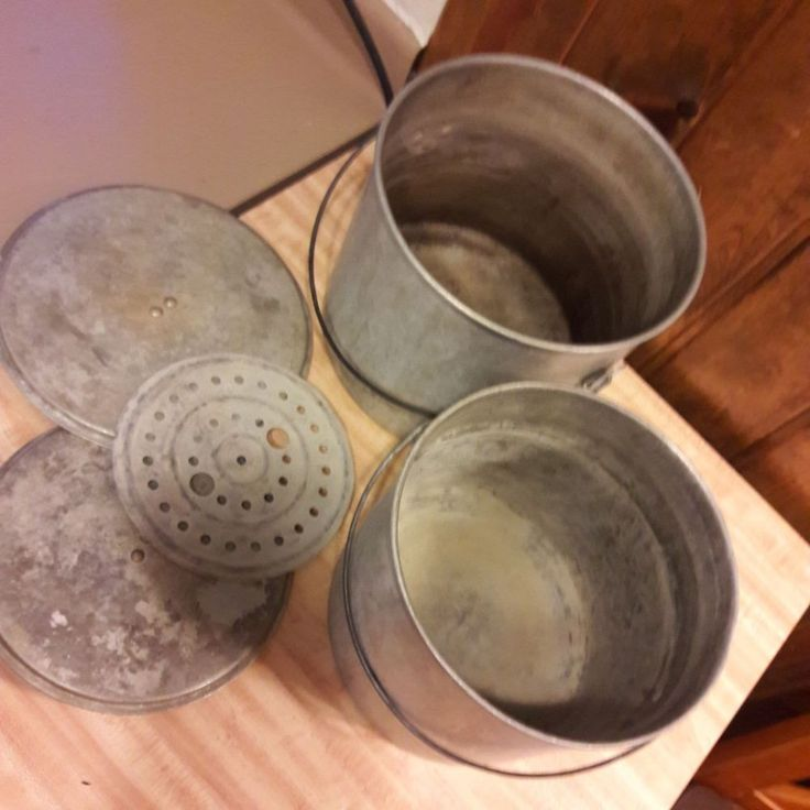 2 Primitive Looking Canning Pails From Old-Time Farm Auction In Minnesota