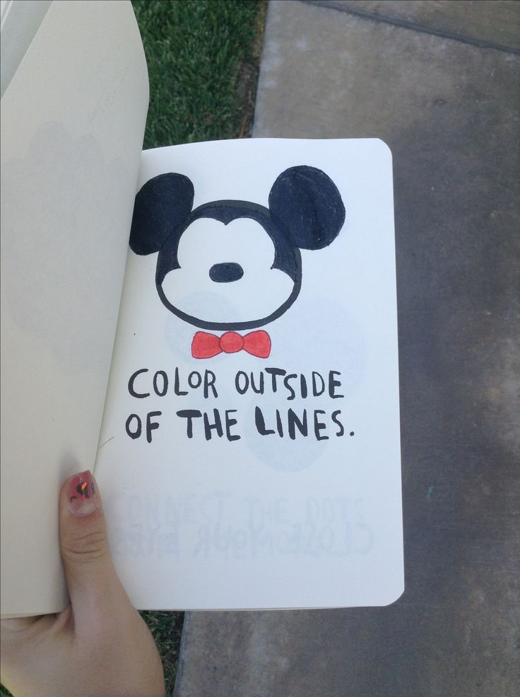 Micky mouse on my wreck this journal page