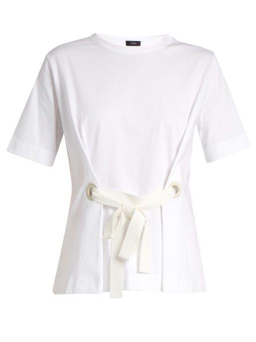 JOSEPH Tie-front jersey T-shirt. #joseph #cloth #t-shirt