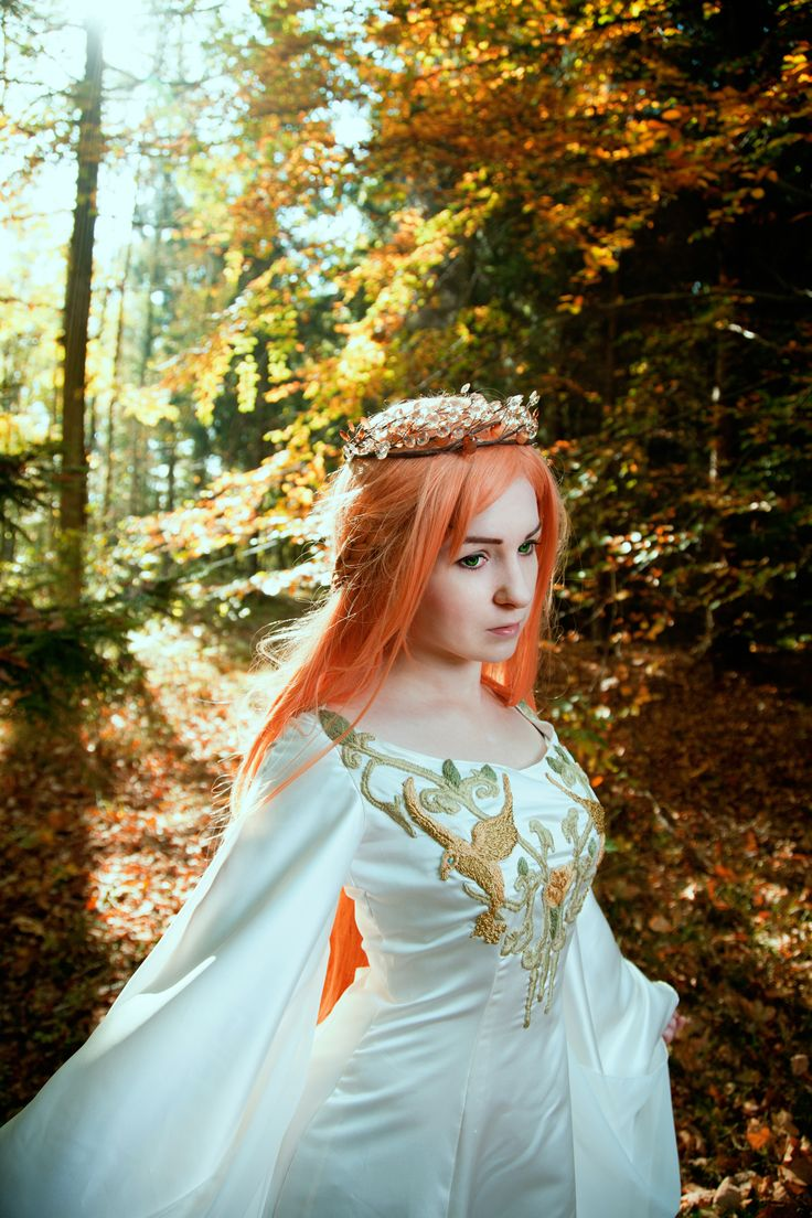 Credits here: www.facebook.com/SilverWolfieShizuma  #elf #elven #dress #medieval #elficka #suknia #goth #gothic #wedding #crown #circlet #jewelry #diadem #asuna #yuuki #cosplay #sao #swordartonline #lotr #lordoftherings #arwena #haft #beautiful #portrait #fashion #white #woods #bloodelf #bloodelves #elvenpath #las #krwawyelf #wow #wizard #magic #magical #silverwolfie #redhead #wig #lens #elvishdress #corset #pagan #cloak