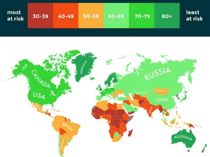 Estos son los países que sobrevivirán al cambio climático | Dinero en Imagen.com