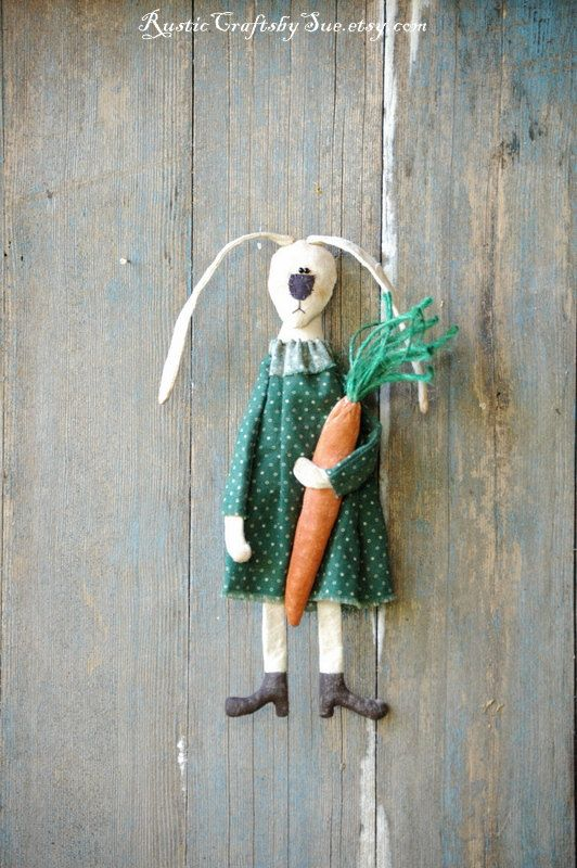 Primitive Bunny-Easter Bunny-Ester by RusticCraftsbySue on Etsy