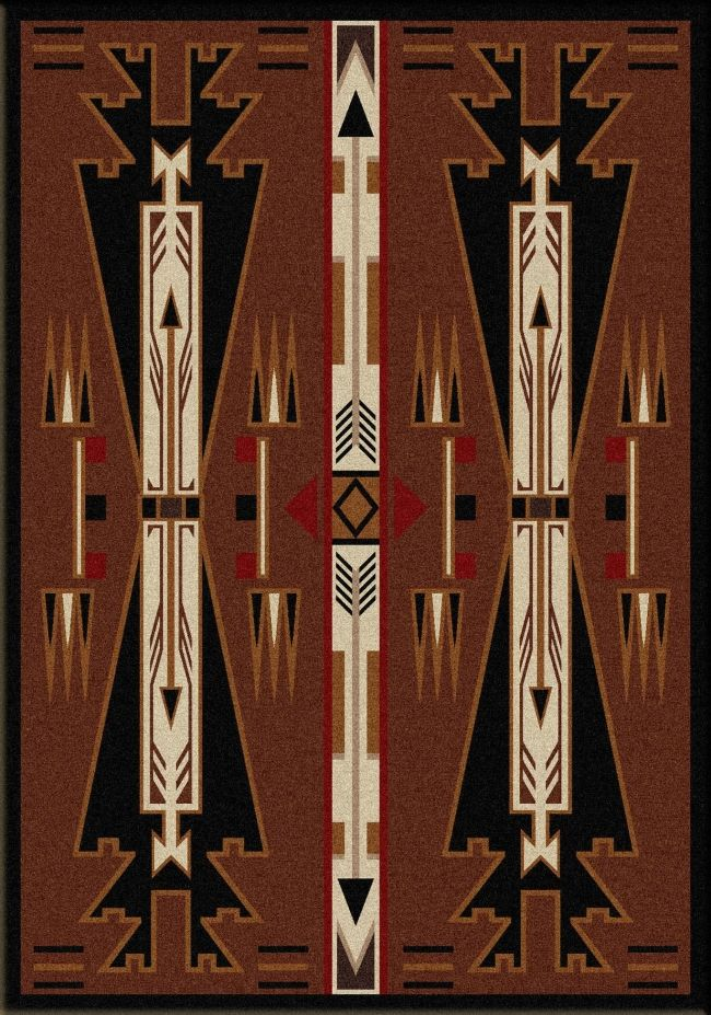 Native American Arrow Brown Large Rug For $599.95