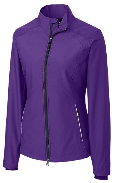 Purple Cutter & Buck Ladies & Plus Size WeatherTec™ Beacon Full Zip Golf Jacket. More ladies golf outerwear for winter at #lorisgolfshoppe