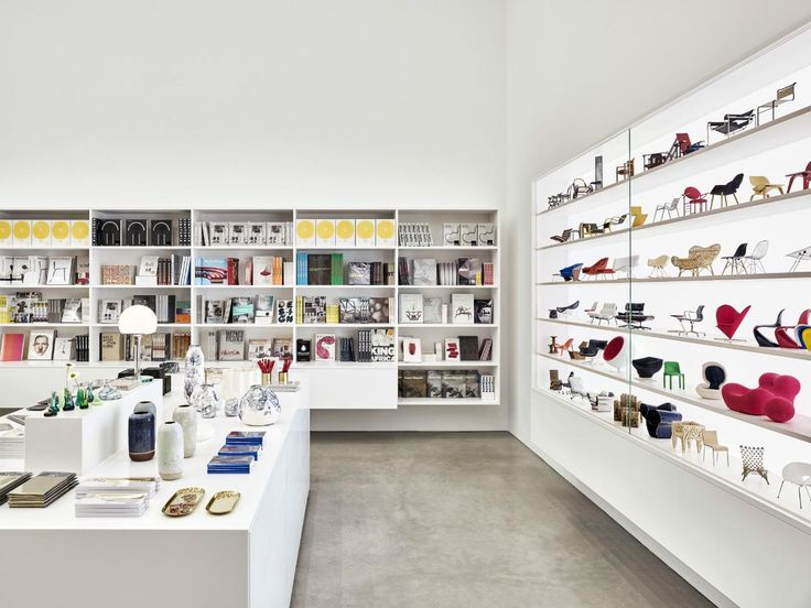 The Vitra Schaudepot Shop, offering design publication and assorted design objects. #interdema #design #designproducts #VitraSchaudepot #schaudepot #VitraCampus #Vitra #дизайн #дизайнерскаямебель