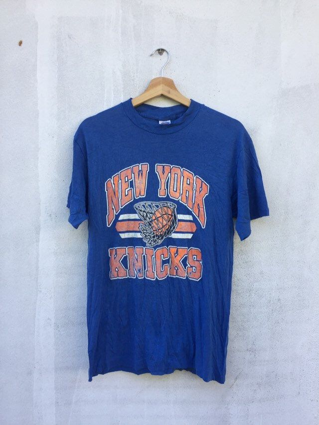 Vintage 80 S New York Knicks Basketball Promo Tee Vintage 90 S Knicks T Shirt Vintage Basketball Promo Tee Knick Basketball Size Large In 2020 New York Knicks Knicks Basketball Knicks