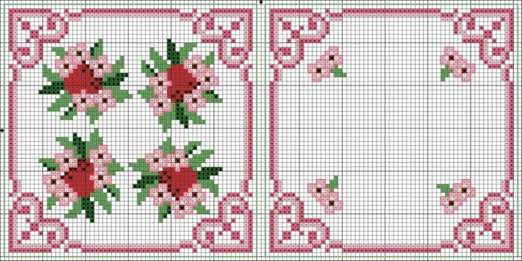 Cross-stitch biscornu ... no color chart available, just use the pattern chart as your color guide.. or choose your own colors... Gallery.ru / Фото #190 - Игольницы - bangelok
