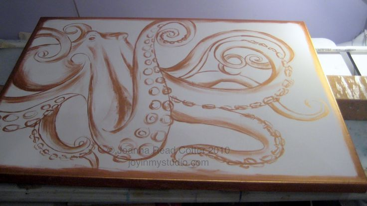 abstract octopus painting - Google Search
