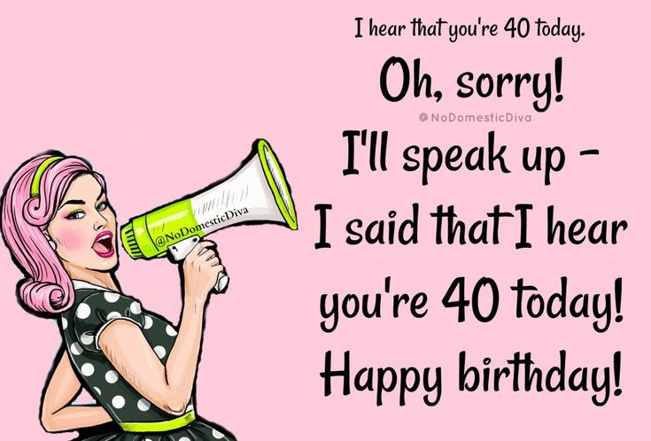5 Birthday Cards for Turning 40 |funny birthday cards ...