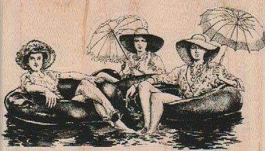 New to pinkflamingo61 on Etsy: Rubber stamp 3 Women in Tubes summer swim sisters  wood Mounted  scrapbooking supplies number 19182 (6.60 USD)