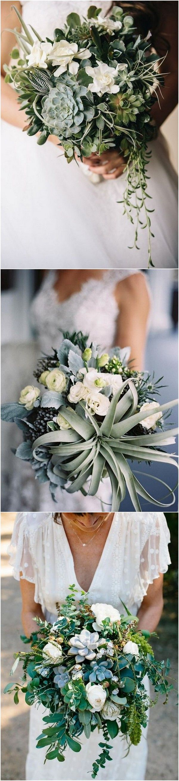Trending wedding bouquet ideas with succulents for 2018 #weddingflowers #weddingbouquets #weddingideas #weddingtrends