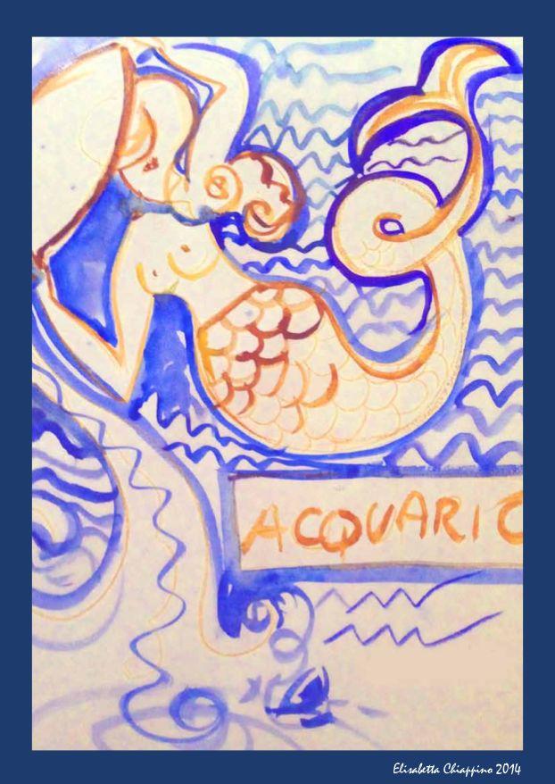 Acquario by Elisabetta Chiappino illustrazioni ° Il Segno zodiacale dell'ACQUARIO è l'undicesimo segno dello zodiaco  21 Gennaio - 19 Febbraio  Zodiac Art illustration by Elisabetta Chiappino all rights reserved - 2015 © oroscopo - zodiaco - segni zodiacali - Ariete  - Toro - Gemelli  - Cancro - Leone - Vergine - Settembre - Bilancia  - Scorpione - Sagittario - Capricorno - Acquario - Pesci