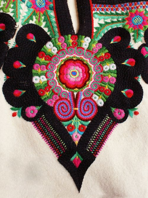 polishcostumes: Embroidery motif on the trousers: folk costume from Podhale region, Poland.