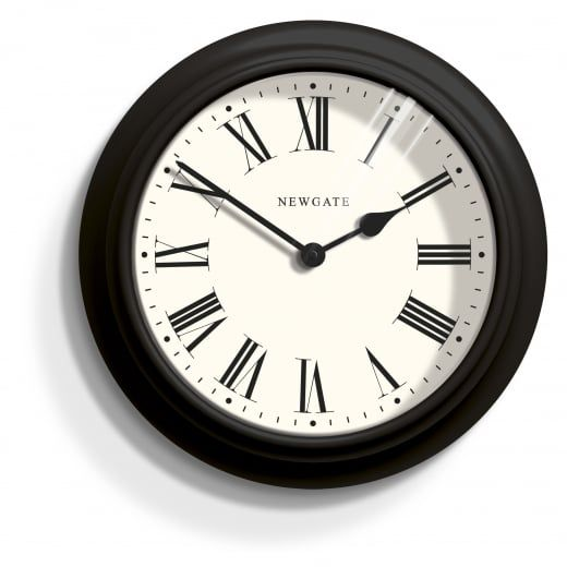 newgate clocks nantucket black metal wall clock
