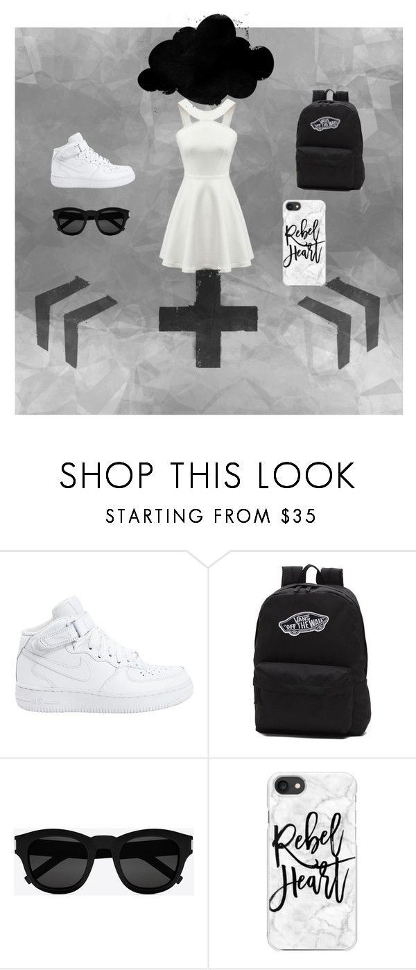 """dt"" by ms-qwe on Polyvore featuring мода, NIKE, Vans, Yves Saint Laurent и Casetify"