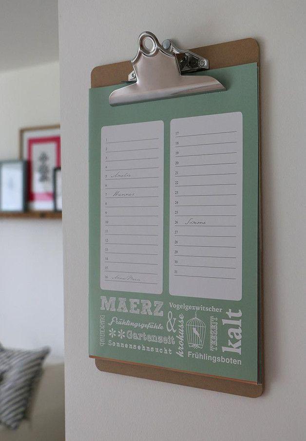 Geburtstagskalender - Geburtstagskalender - ein Designerstück von Heimwerk_Design bei DaWanda