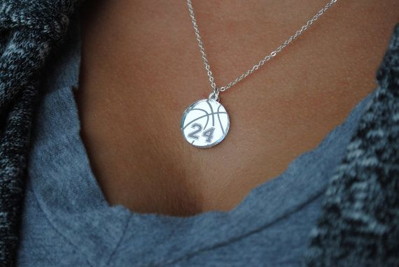 Basketball necklace by Chicago Factory This would be the perfect gift but with #54 instead