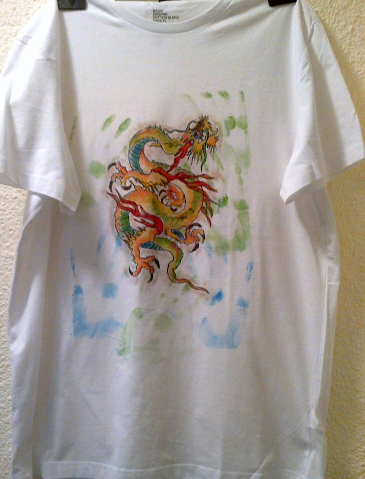 Dragon painted on t-shirt