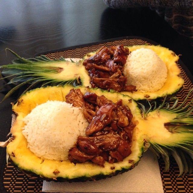 Teriyaki Chicken in a Pineapple Bowl - Google Search