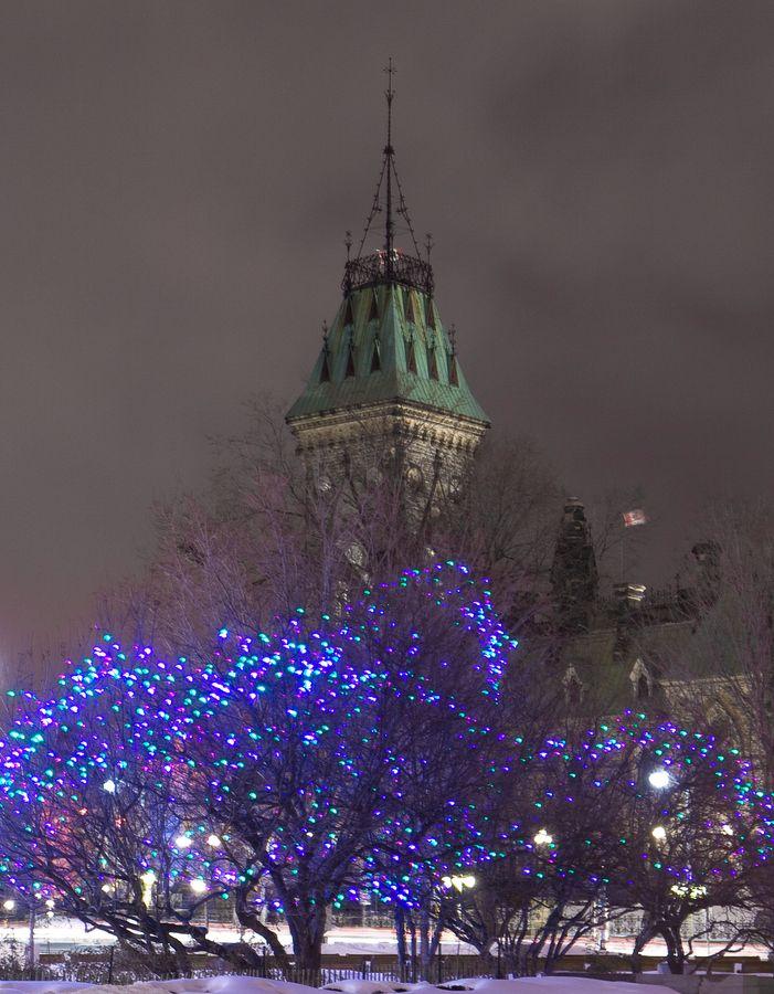 Parliament Hill Ottawa Christmas