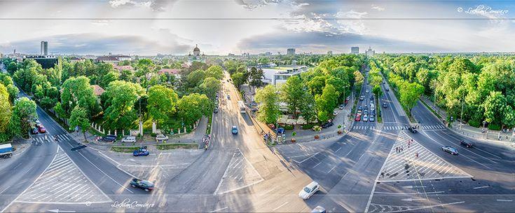 Panorama de pe Arcul de Triumf!