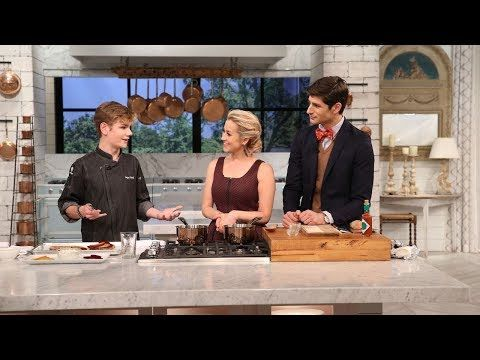 Logan Guleff was just 11 years old when he won the title MasterChef Junior in 2014. Now at 15, Logan just published his first cookbook, Logan's Chef Notes & Half-Baked Tales: Cooking Dreams, a graphic cookbook and adventure series. The cooking wunderkind showed Ben and Kellie how to make his Roasted Beet Toast, which can be served as a meal or cut into smaller pieces and be served as an appetizer for a party! Roasted Beet Toast Serves 2 Ingredients 2 large red beets 2 large yellow beets 3...