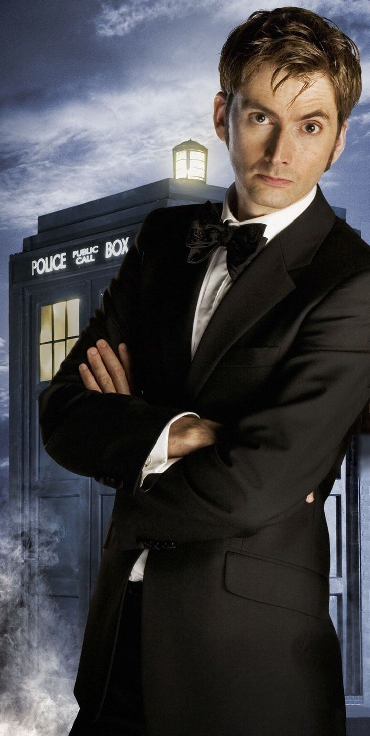 David Tennant- wore a bowtie before it was cool -lol -but he also said something bad always happened when he wore the suit & bowtie.