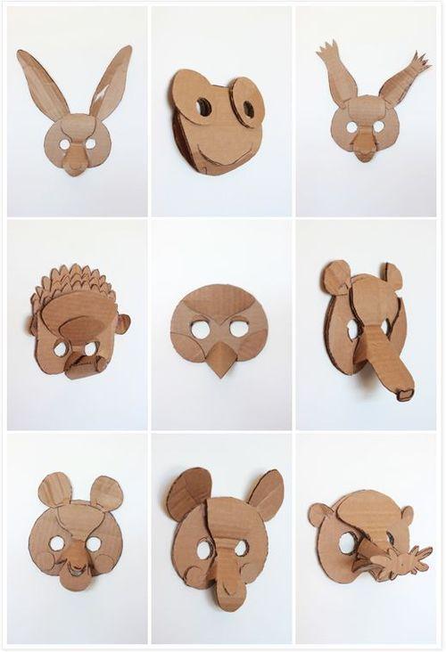 5 ideias Máscara Criativo de Animais