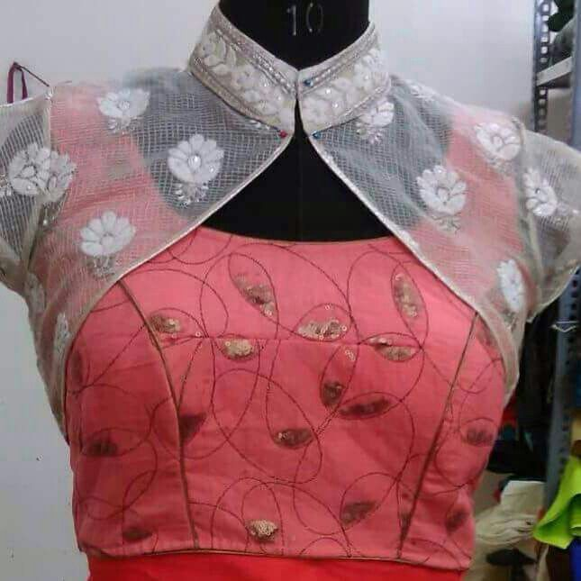 Awesome blouse design.