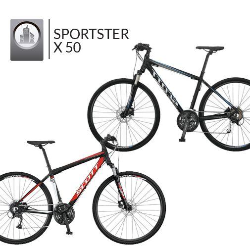 Sportster x 50 , #ScottBikes para los que buscan una bici híbrida buena y amable
