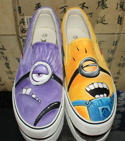 despicable me minion shoes custom shoes by custompaintingshoes