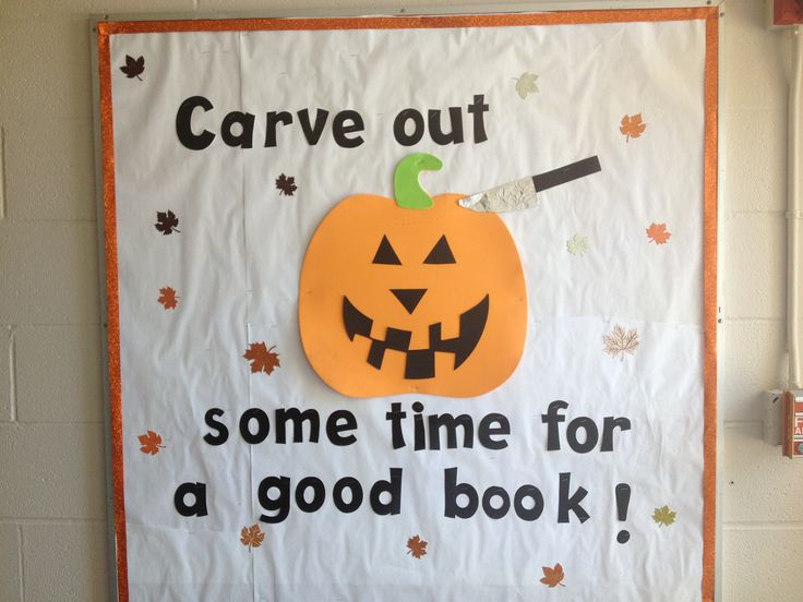 Halloween bulletin board - library