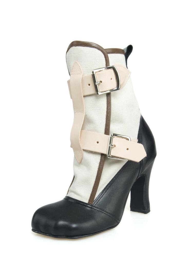 Vivienne Westwood Bondage Boot Natural