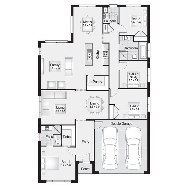 Killara 22    Floor Plan - 204.20sqm, 11.90m width, 18.90m depth    Clarendon Homes Floor Plans