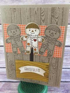 This fall card uses Stampin' Up's Cookie Cutter Halloween stamp set and the…