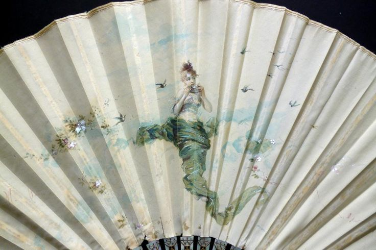 Musical air, a Marie Dumas fan circa 1890 - Catalogue New fans April 2014 - Fan d'éventails