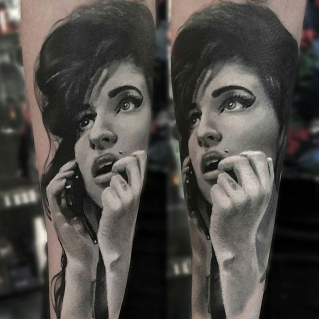 34 best Tattoos of Amy Winehouse images on Pinterest | Amy ...  34 best Tattoos...