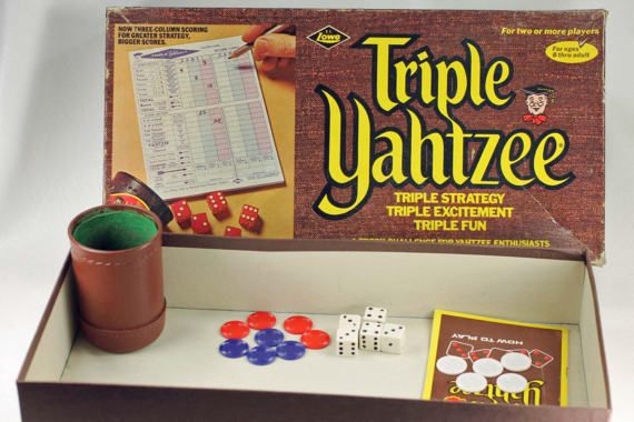 Triple Yahtzee Vintage 1972 Lowe Edition No Scorecards