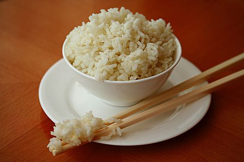perfect steamed rice! I am always getting sticky, burnt rice on the bottom of my pot so I am trying this way!