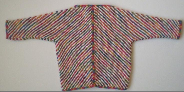 """Børneudgave af den kendte """"Kite Jacket"""". Den er let at strikke og er kun i 2 stykker. Der bruges samme maskeantal til alle 3 størrelser - forskellen ligger i garntykkelsen. Læs mere ..."""